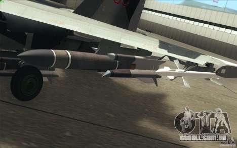 Su-35 BM v 2.0 para GTA San Andreas interior