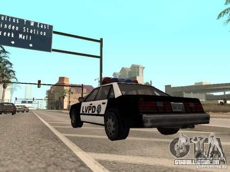 LVPD Police Car para GTA San Andreas vista direita
