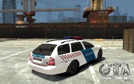 Skoda Octavia Kombi 2005 Hungarian Police para GTA 4 vista direita