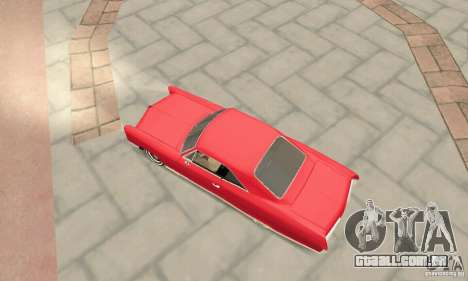 Pontiac Bonneville 1966 para GTA San Andreas traseira esquerda vista