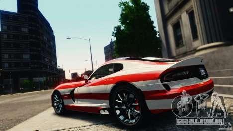 Dodge Viper GTS 2013 para GTA 4 vista lateral