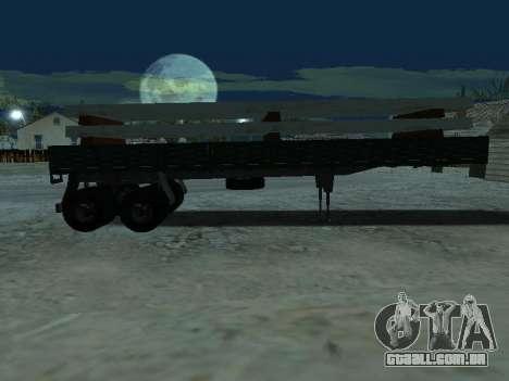 Trailer de Kamaz 5410 para vista lateral GTA San Andreas