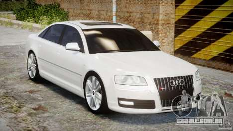 Audi S8 D3 2009 para GTA 4 vista interior