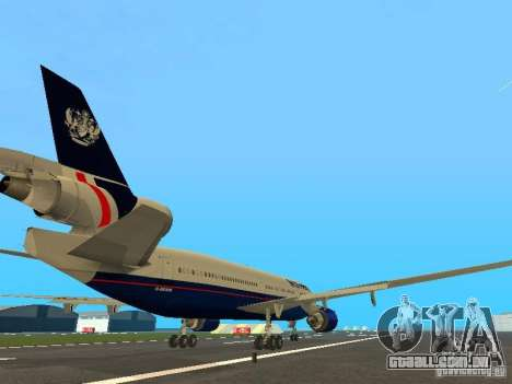 McDonell Douglas DC10 British Airways para GTA San Andreas vista direita
