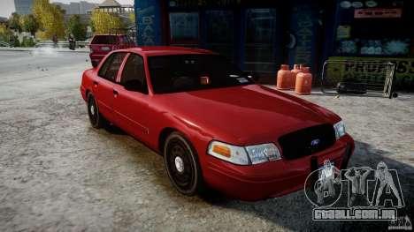Ford Crown Victoria Detective v4.7 red lights para GTA 4 vista direita