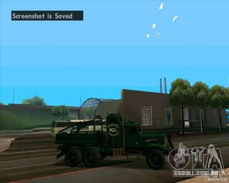 KrAZy Crocodile para GTA San Andreas traseira esquerda vista