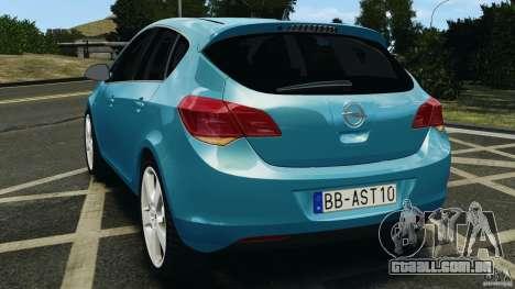 Opel Astra 2010 v2.0 para GTA 4 traseira esquerda vista