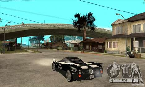 Pagani Zonda F Speed Enforcer BETA para GTA San Andreas vista direita