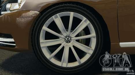 Volkswagen Passat Variant B7 para GTA 4 vista interior