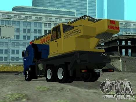 KAMAZ 65117 Ivanovets para GTA San Andreas traseira esquerda vista