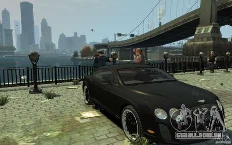 Bentley Continental GT SS para GTA 4 vista de volta