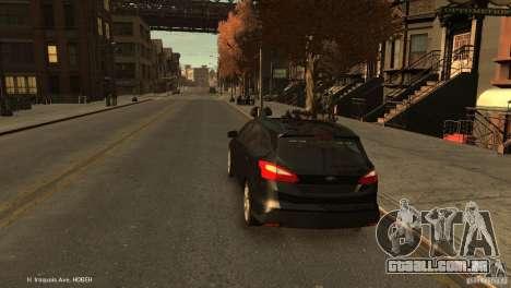 Ford Focus Universal Unmarked para GTA 4 traseira esquerda vista