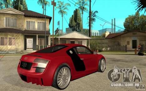 Audi R8 5.2 FSI custom para GTA San Andreas vista direita