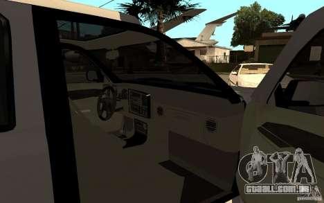 Cadillac Escalade pick up para GTA San Andreas traseira esquerda vista