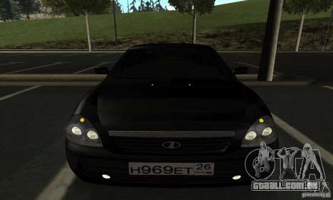 Lada Priora Hatchback para GTA San Andreas vista interior
