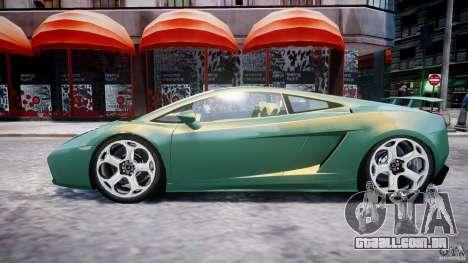 Lamborghini Gallardo para GTA 4 vista inferior