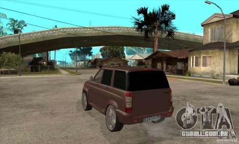 UAZ Patriot para GTA San Andreas vista direita