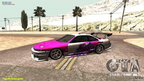 Nissan Silvia S14 kuoki RDS para GTA San Andreas esquerda vista