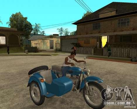 Ural sidecar de turista para GTA San Andreas vista direita