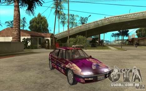 Citroen XM Custom para GTA San Andreas vista traseira