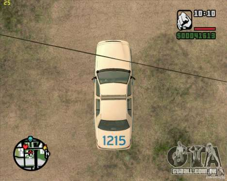 Ford Crown Victoria Baltmore County Police para GTA San Andreas vista traseira