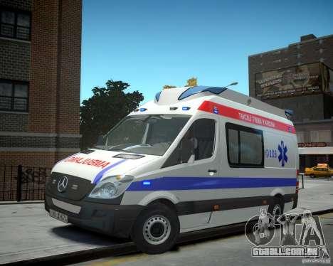 Mercedes-Benz Sprinter Azerbaijan Ambulance v0.2 para GTA 4