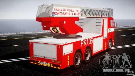 Scania R580 Fire ladder PK106 [ELS] para GTA 4 vista interior