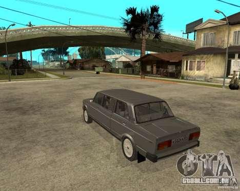 Limousine de 2105 VAZ para GTA San Andreas esquerda vista