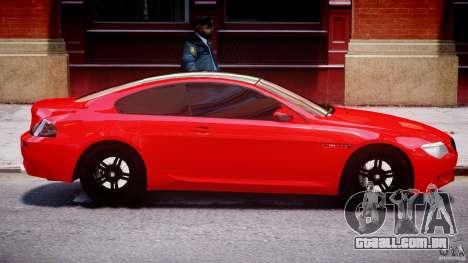 BMW M6 Orange-Black Bullet para GTA 4 vista lateral