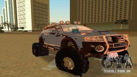 Audi Allroad Offroader para GTA Vice City deixou vista