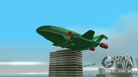 ThunderBird 2 para GTA Vice City vista traseira