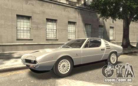 Alfa Romeo Montreal 1970 para GTA 4 vista de volta
