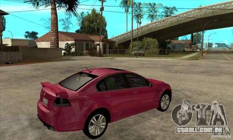 Chevrolet Lumina SS para GTA San Andreas vista direita