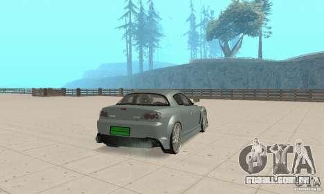 Mazda RX-8 Tuning para GTA San Andreas vista direita