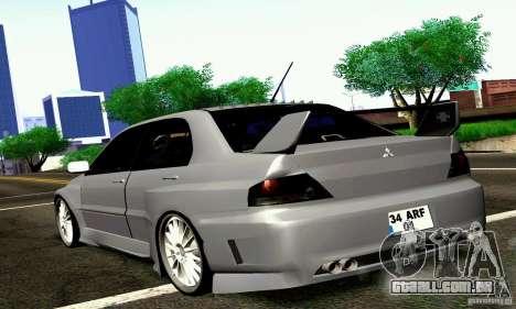 Mitsubishi Lancer Evo VII para GTA San Andreas esquerda vista