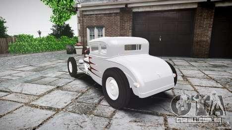Ford Hot Rod 1931 para GTA 4 traseira esquerda vista