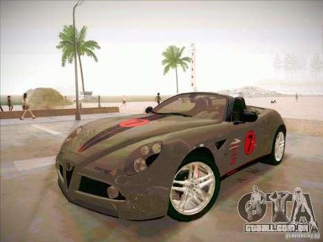 Alfa Romeo 8C Spider para vista lateral GTA San Andreas