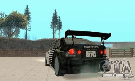 Lexus IS300 Drift Style para GTA San Andreas esquerda vista