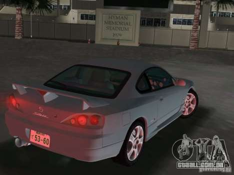 Nissan Silvia spec R Light Tuned para GTA Vice City vista traseira esquerda