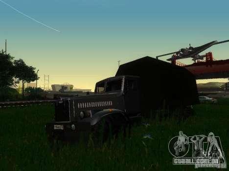 KrAZ-254 para GTA San Andreas esquerda vista