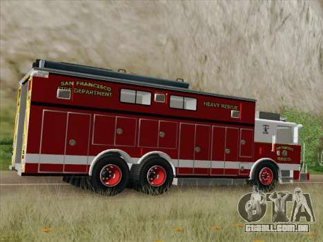 Pierce Walk-in SFFD Heavy Rescue para GTA San Andreas vista superior
