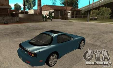 Mazda RX-7 - Stock para GTA San Andreas vista direita