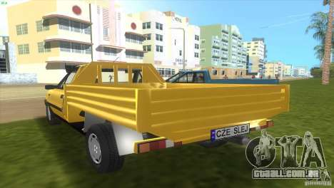 FSO Polonez Truck para GTA Vice City vista traseira esquerda