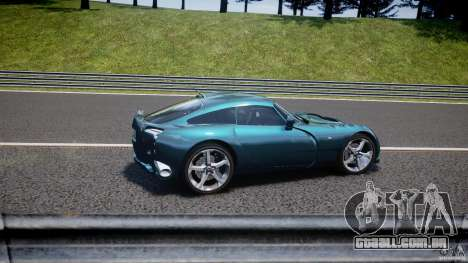 TVR Sagaris para GTA 4 interior