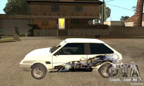 VAZ 2108 sintonizado para GTA San Andreas esquerda vista