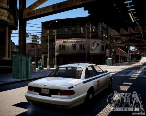 Russian Police Cruiser para GTA 4 traseira esquerda vista