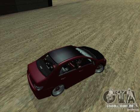 Toyota Corolla 2008 Tuning para GTA San Andreas esquerda vista