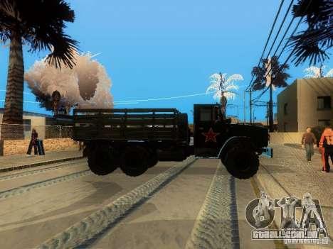 ZIL 4334 maior patência para GTA San Andreas traseira esquerda vista