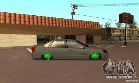 Lada Granta Dag Style para GTA San Andreas traseira esquerda vista
