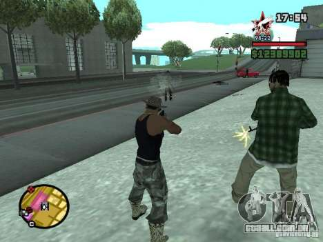 Um guarda de segurança para o CJ com miniganom para GTA San Andreas